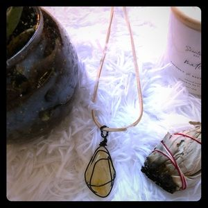 🌙 handmade wire-wrapped crystal necklace 🌙